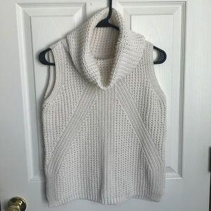 Charming Charlie sleeveless cowl neck sweater
